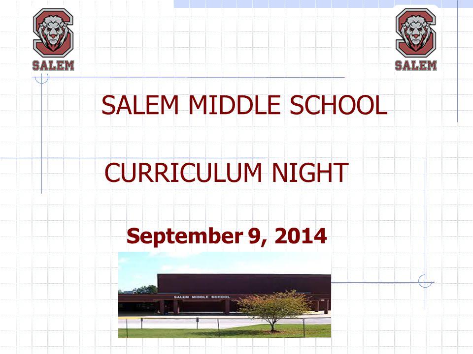 CURRICULUM NIGHT September 9, 2014