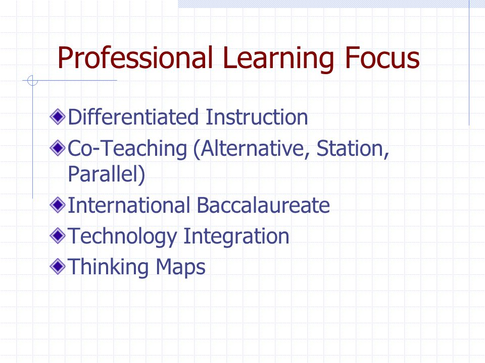 Professional Learning Focus