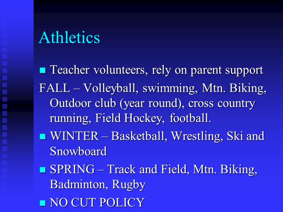 Athletics Teacher volunteers, rely on parent support