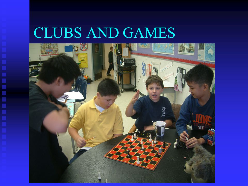 CLUBS AND GAMES