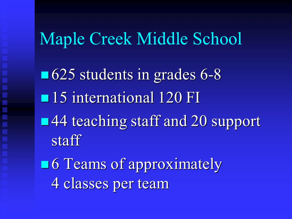 Maple Creek Middle School