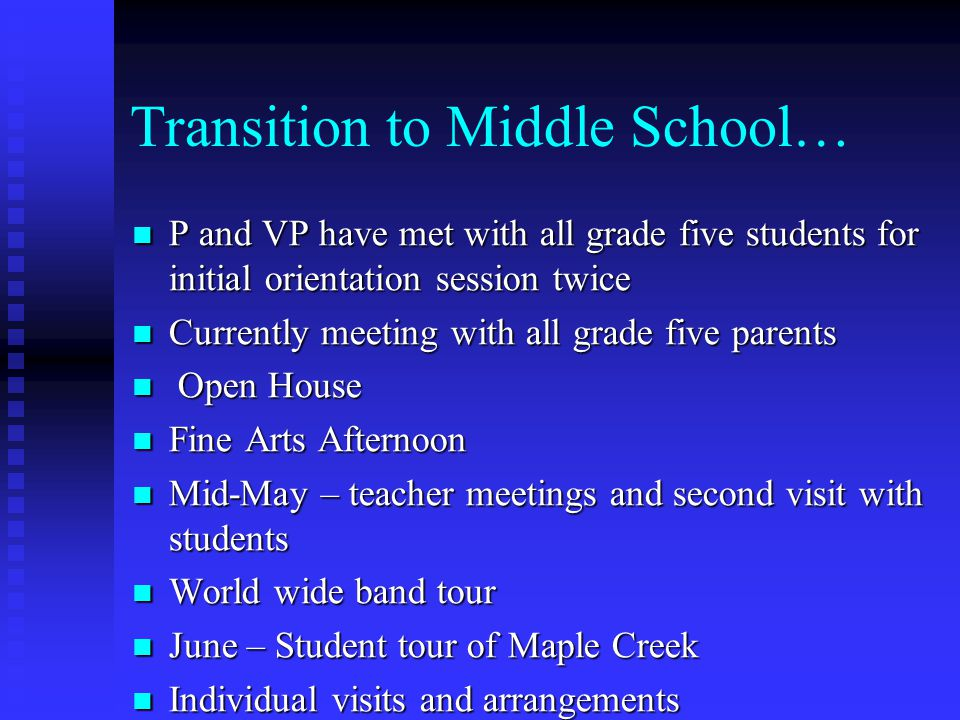 Transition to Middle School…