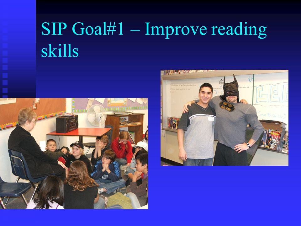SIP Goal#1 – Improve reading skills