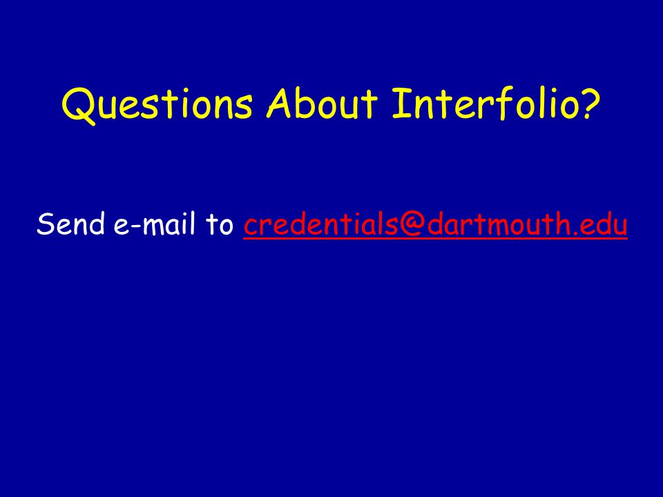 Questions About Interfolio