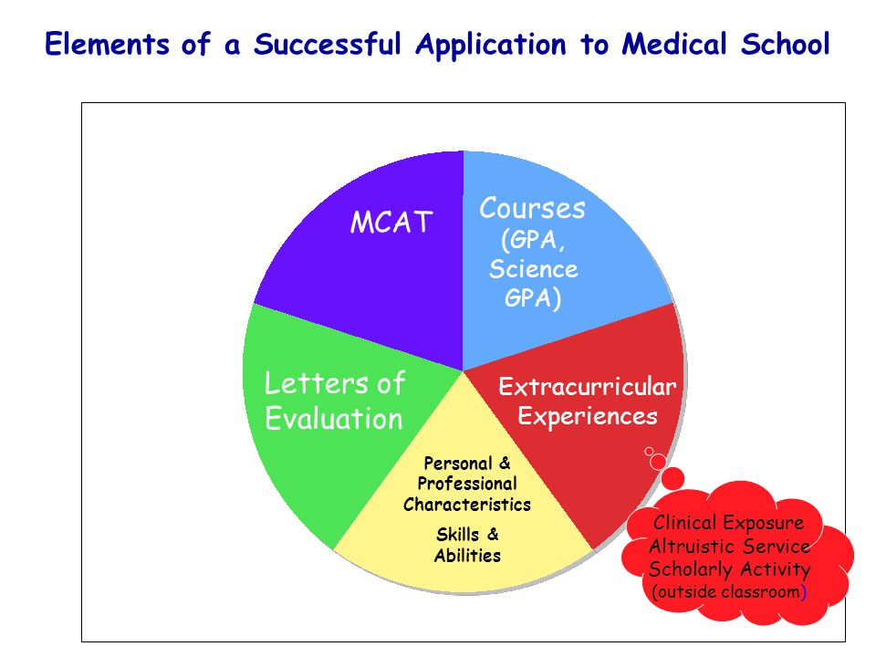 Elements of a Successful Application to Medical School