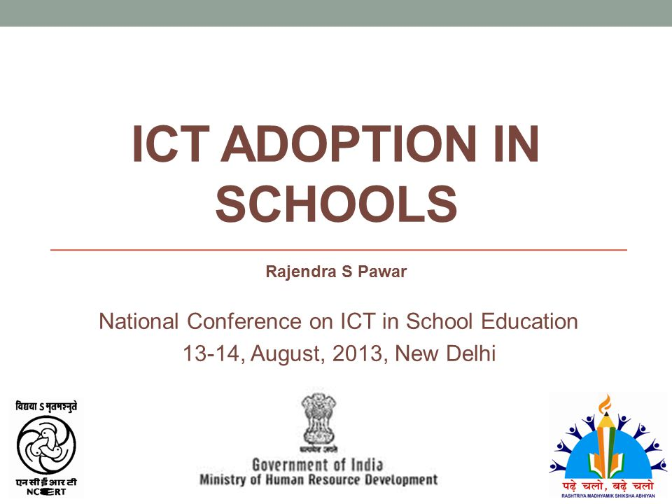 ICT adoption in Schools