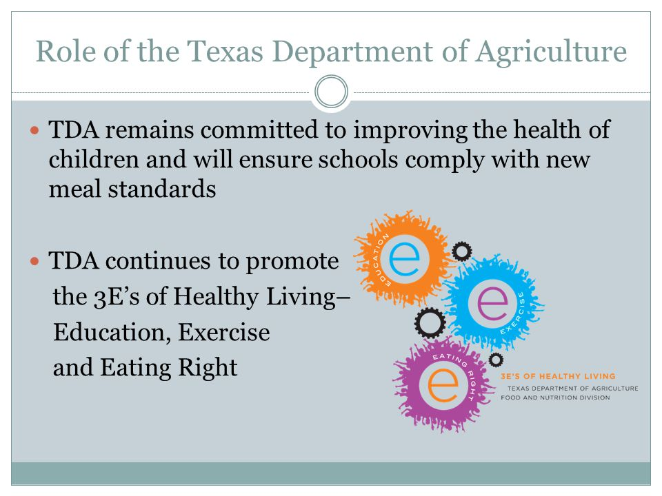 Role of the Texas Department of Agriculture