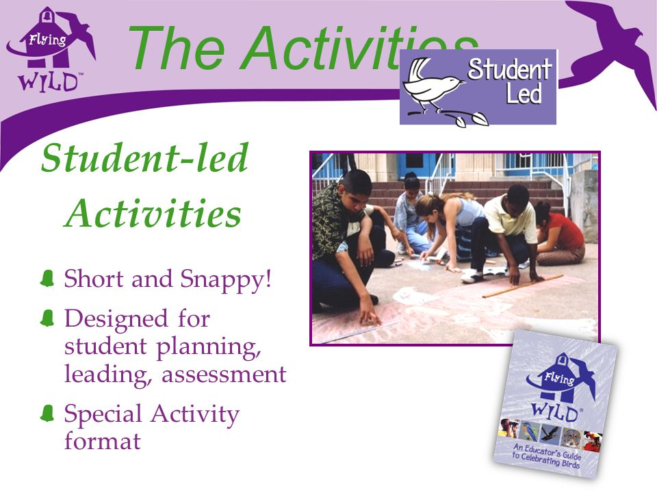 The Activities Student-led Activities Short and Snappy!