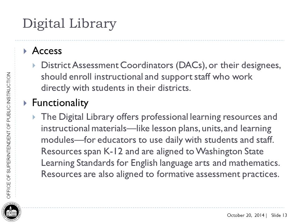 Digital Library Access Functionality
