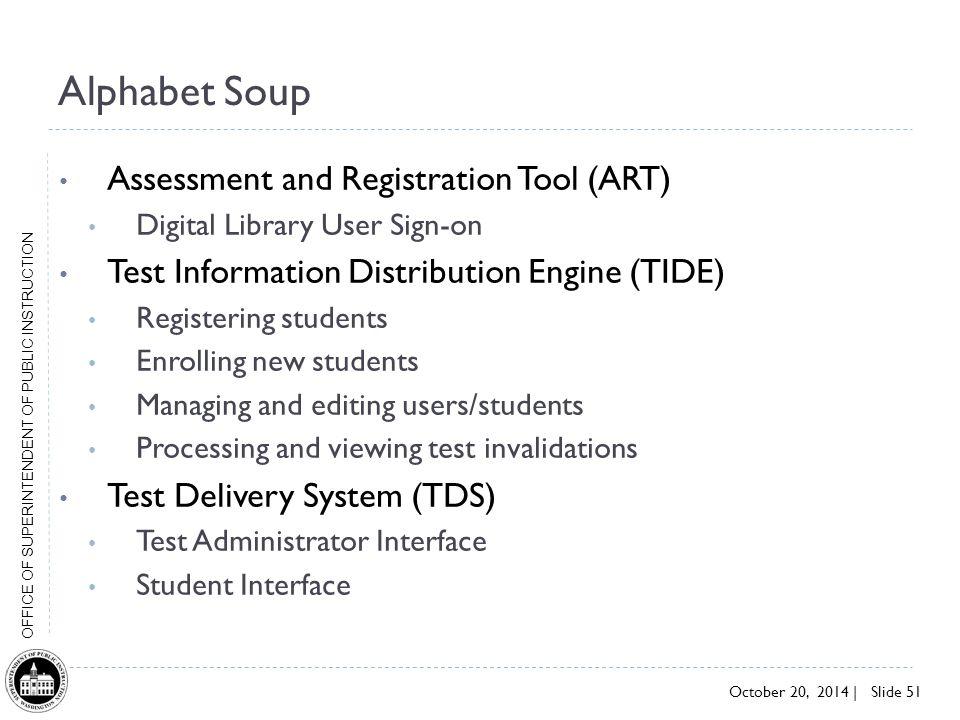 Alphabet Soup Assessment and Registration Tool (ART)