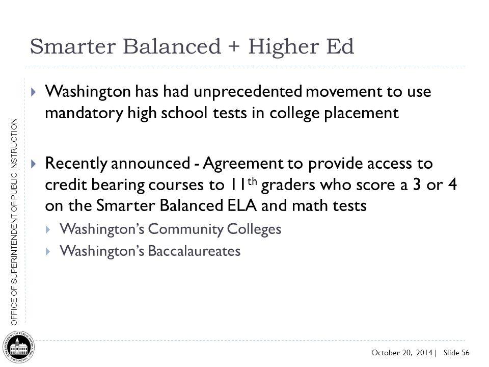 Smarter Balanced + Higher Ed