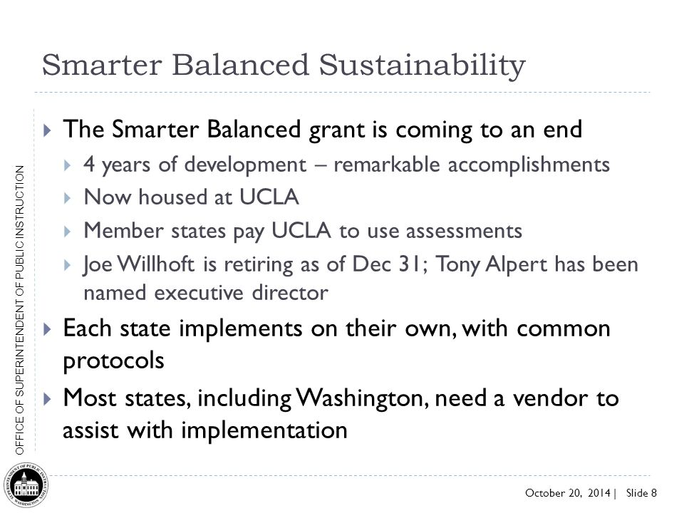Smarter Balanced Sustainability