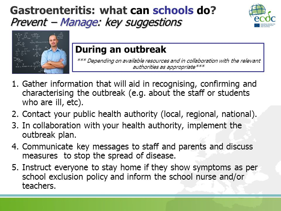 Gastroenteritis: what can schools do Prevent – Manage: key suggestions