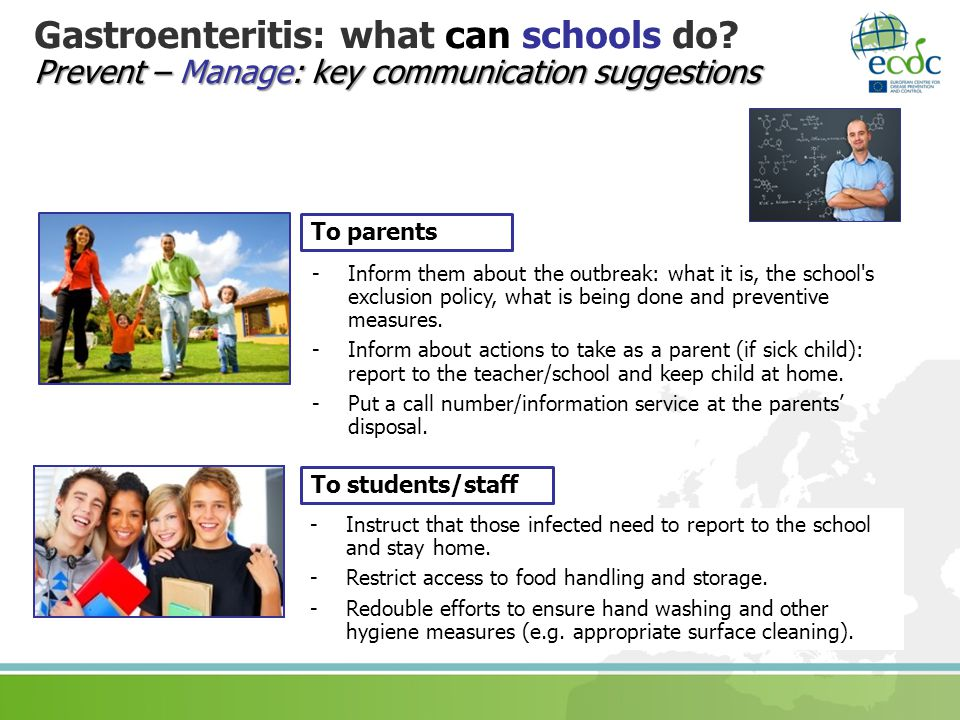 Gastroenteritis: what can schools do