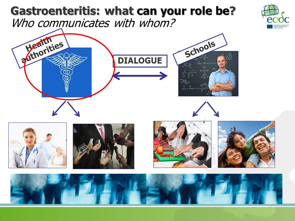 Gastroenteritis: what can your role be Who communicates with whom