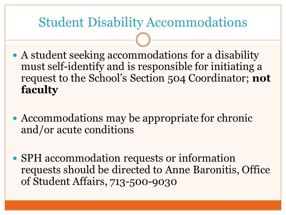 Student Disability Accommodations