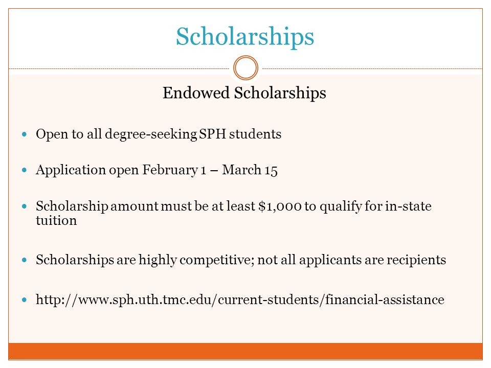 Scholarships Endowed Scholarships