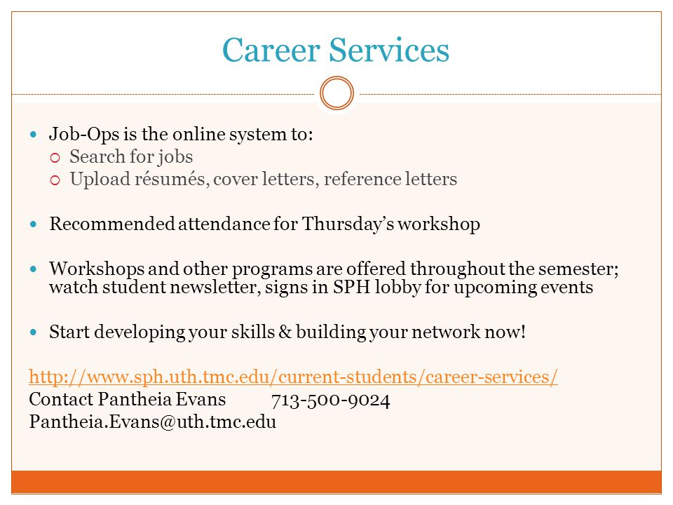 Career Services Job-Ops is the online system to: Search for jobs