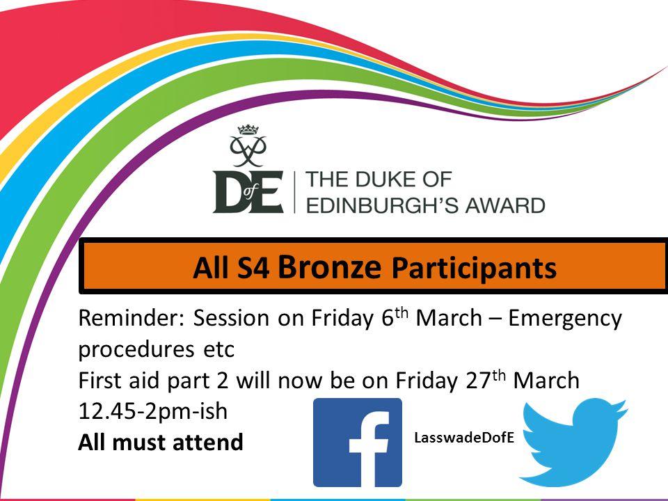 All S4 Bronze Participants