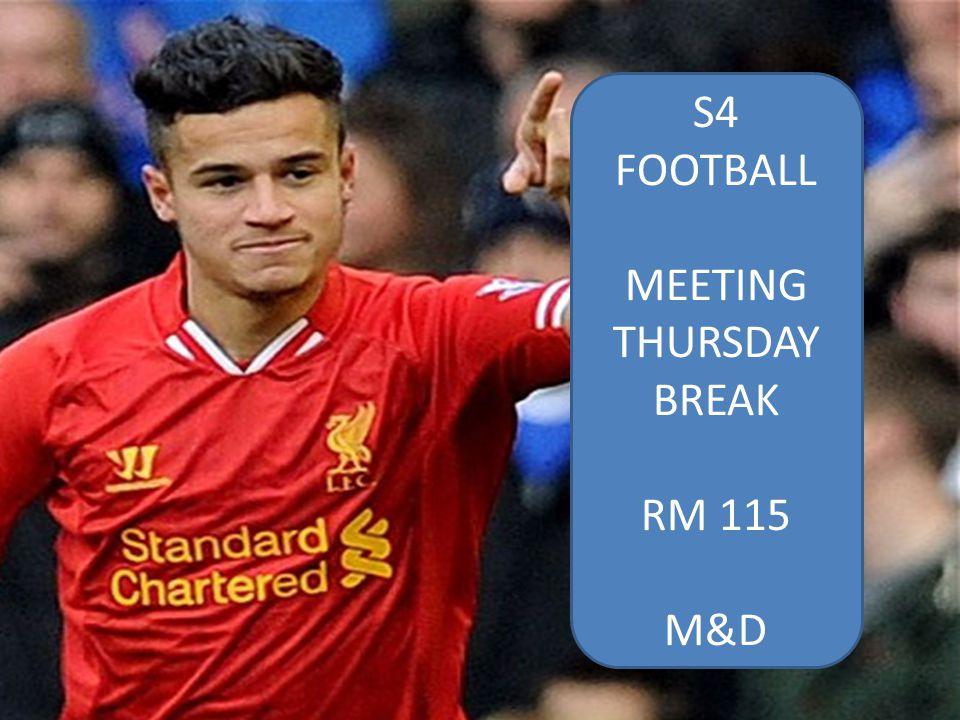 MEETING THURSDAY BREAK