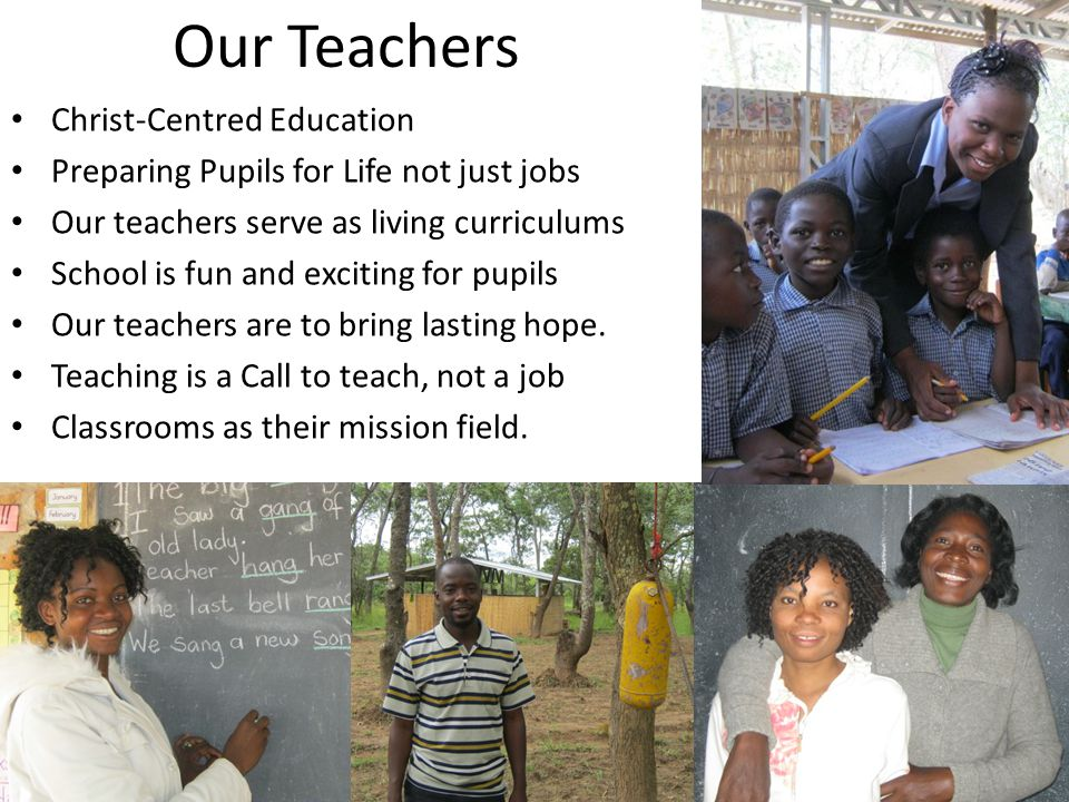 Our Teachers Christ-Centred Education