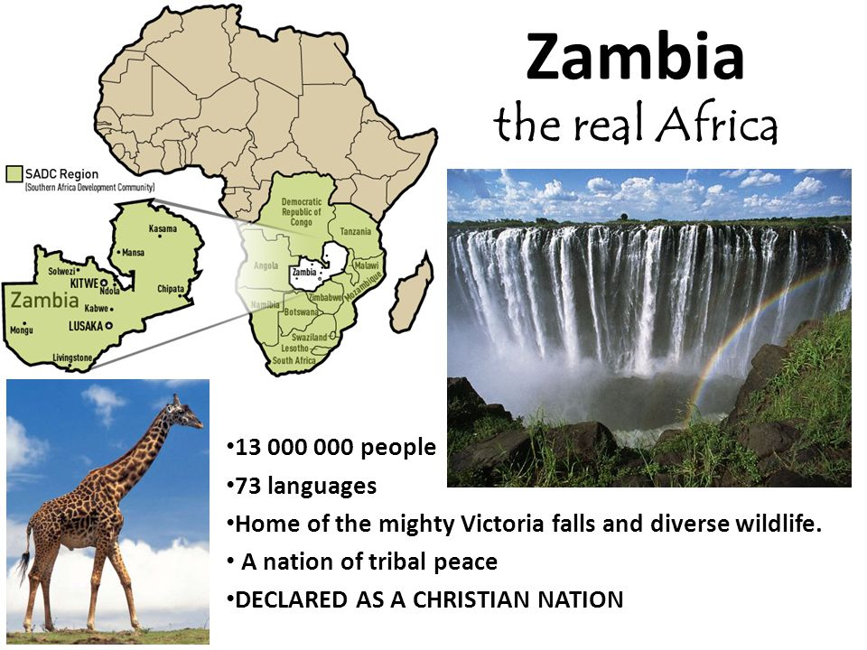 Zambia the real Africa 13 000 000 people 73 languages