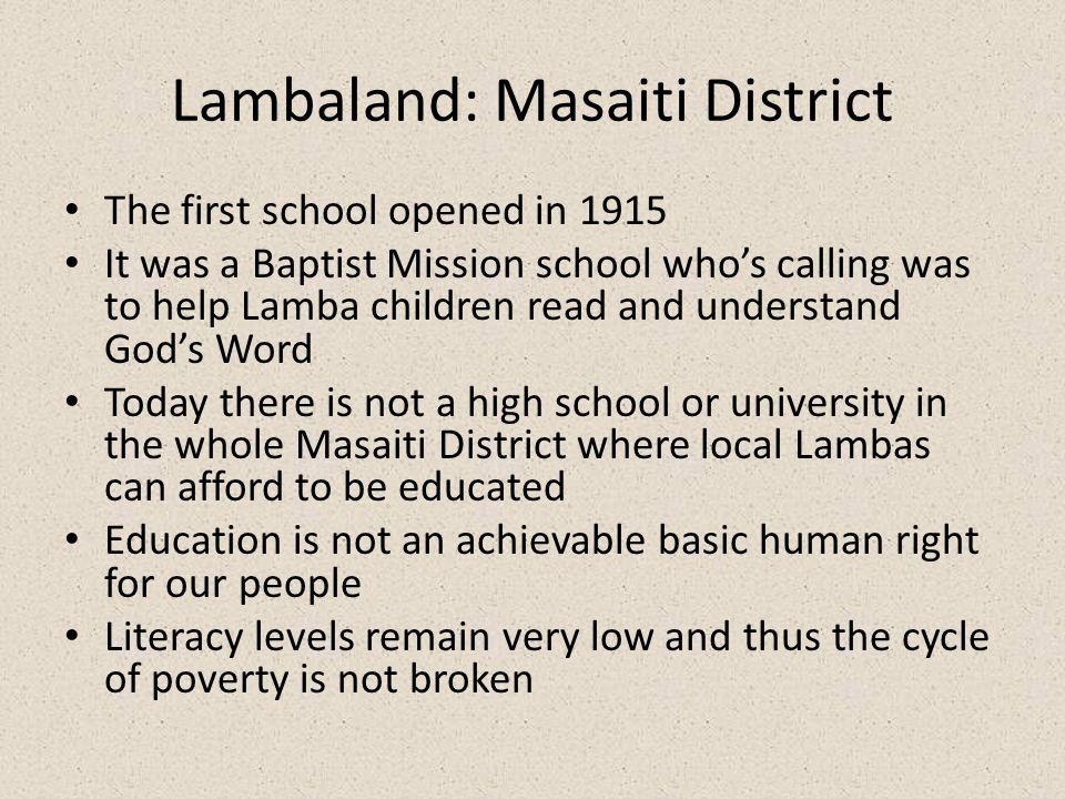 Lambaland: Masaiti District