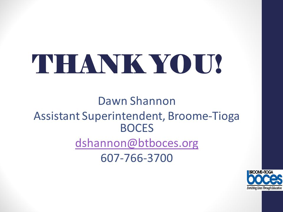Assistant Superintendent, Broome-Tioga BOCES