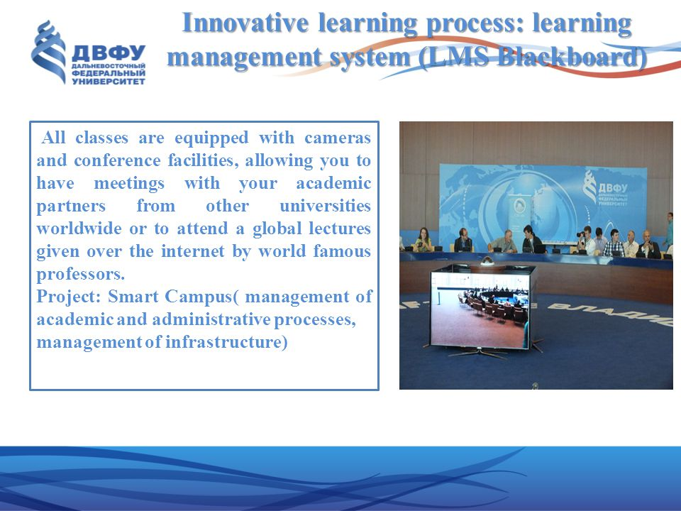 Innovative learning process: learning management system (LMS Blackboard)