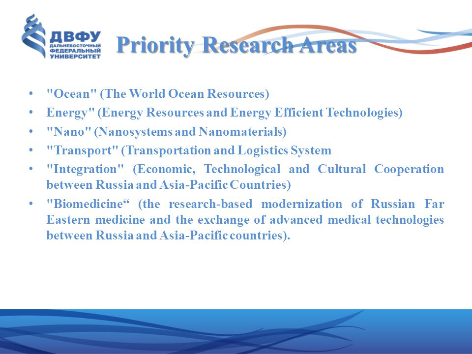 Priority Research Areas