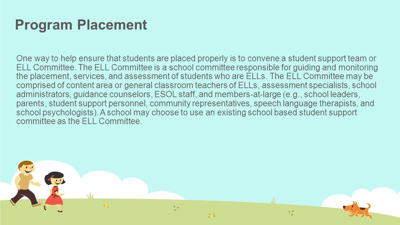 Program Placement