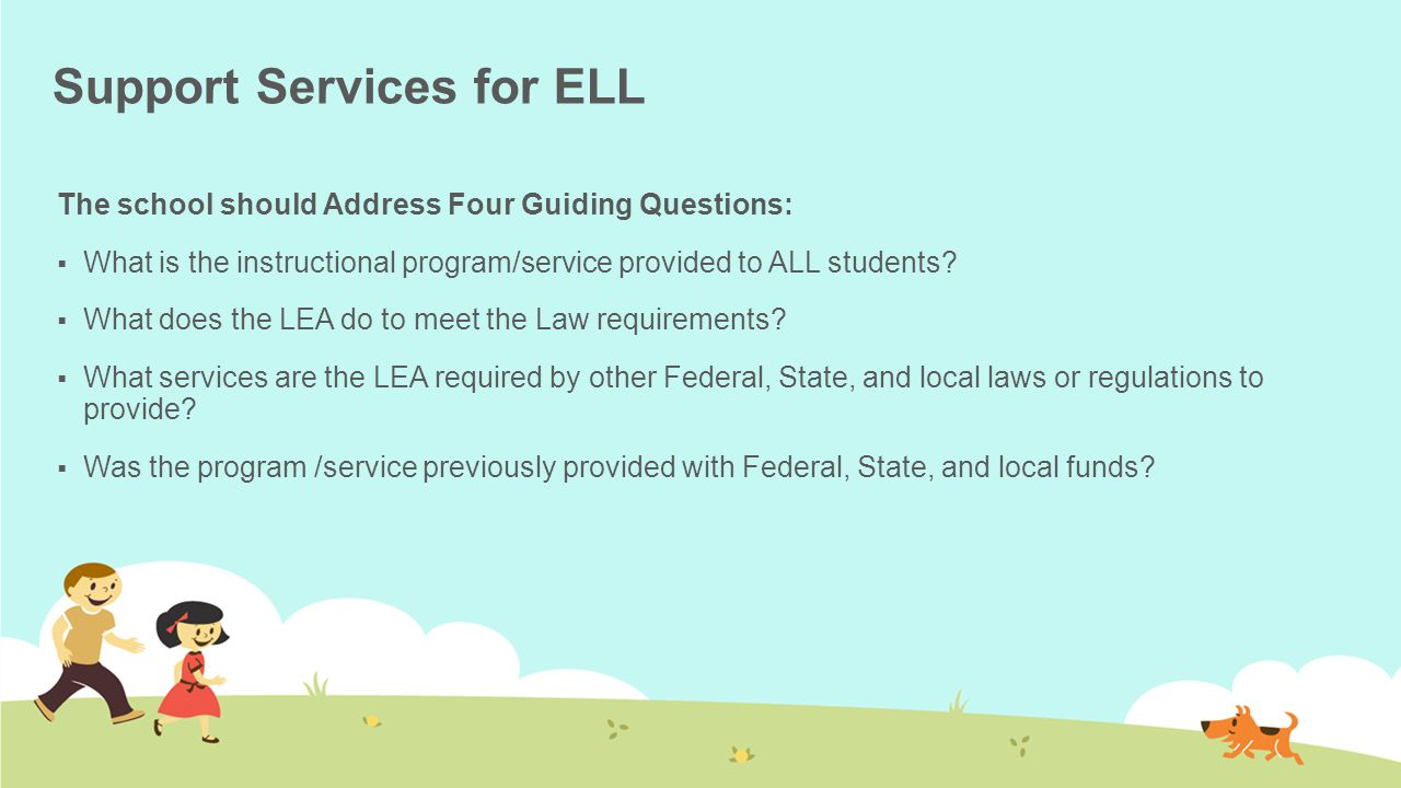 Support Services for ELL