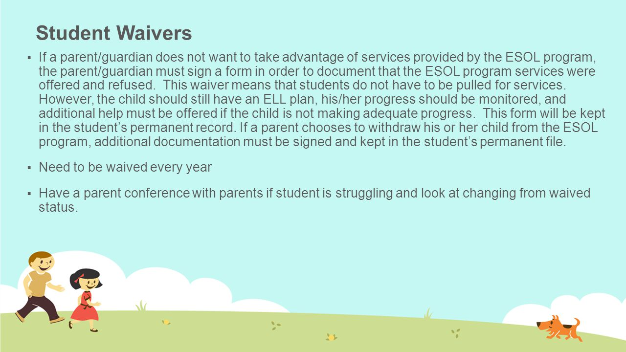 Student Waivers