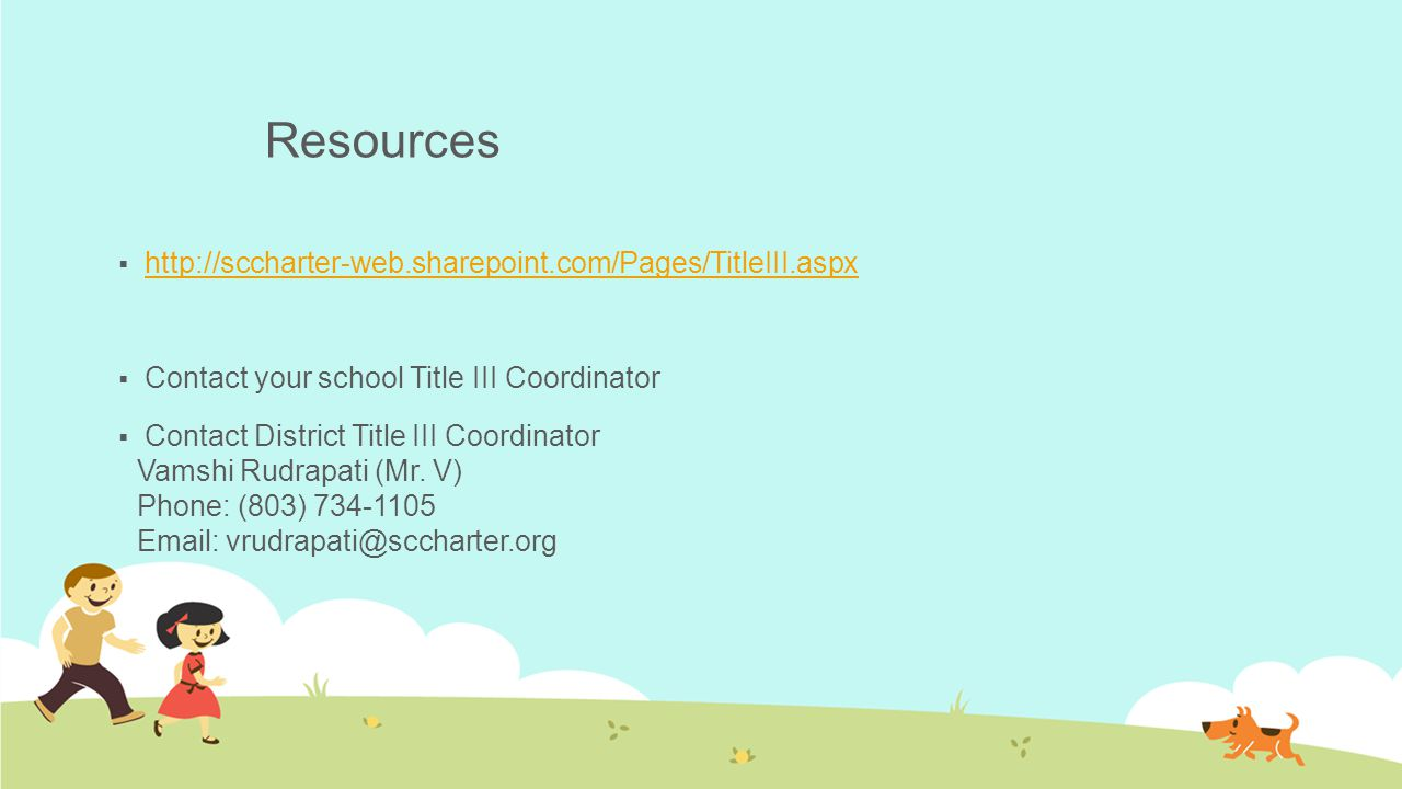 Resources http://sccharter-web.sharepoint.com/Pages/TitleIII.aspx