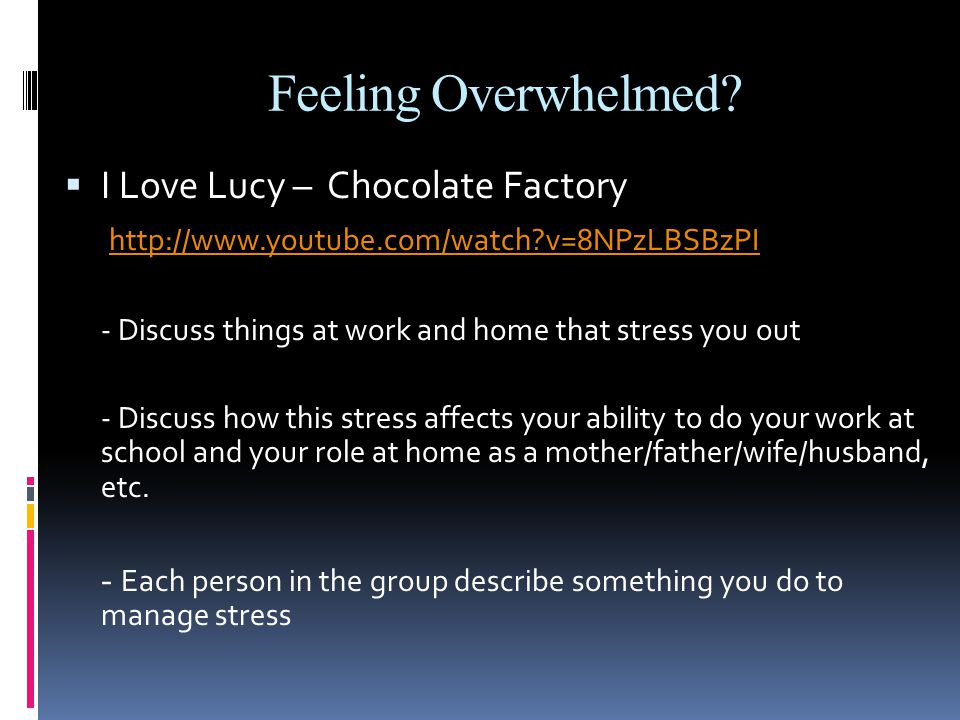 Feeling Overwhelmed I Love Lucy – Chocolate Factory