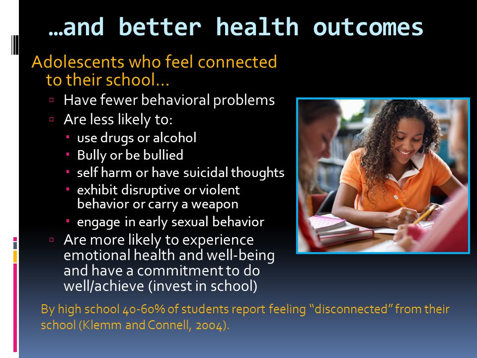 …and better health outcomes
