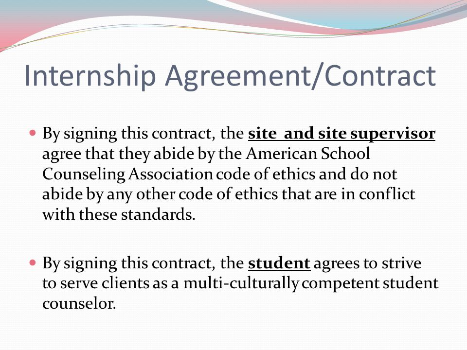Internship Agreement/Contract