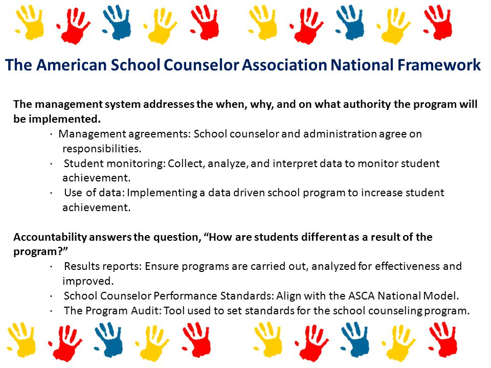 The American School Counselor Association National Framework