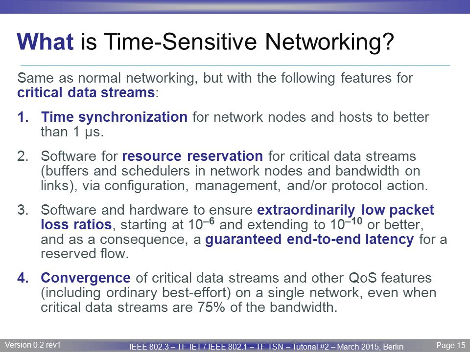 What is Time-Sensitive Networking