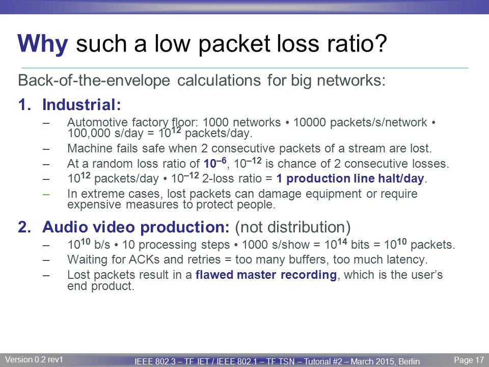 Why such a low packet loss ratio