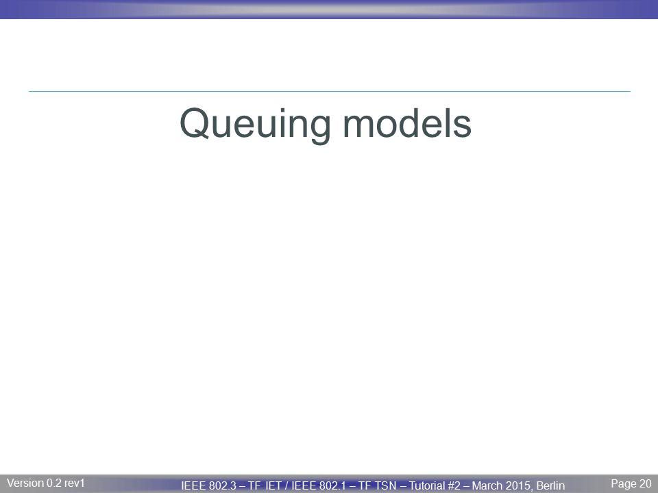 Queuing models