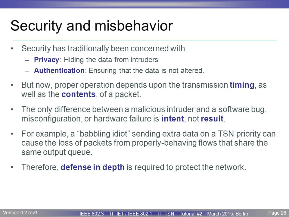 Security and misbehavior