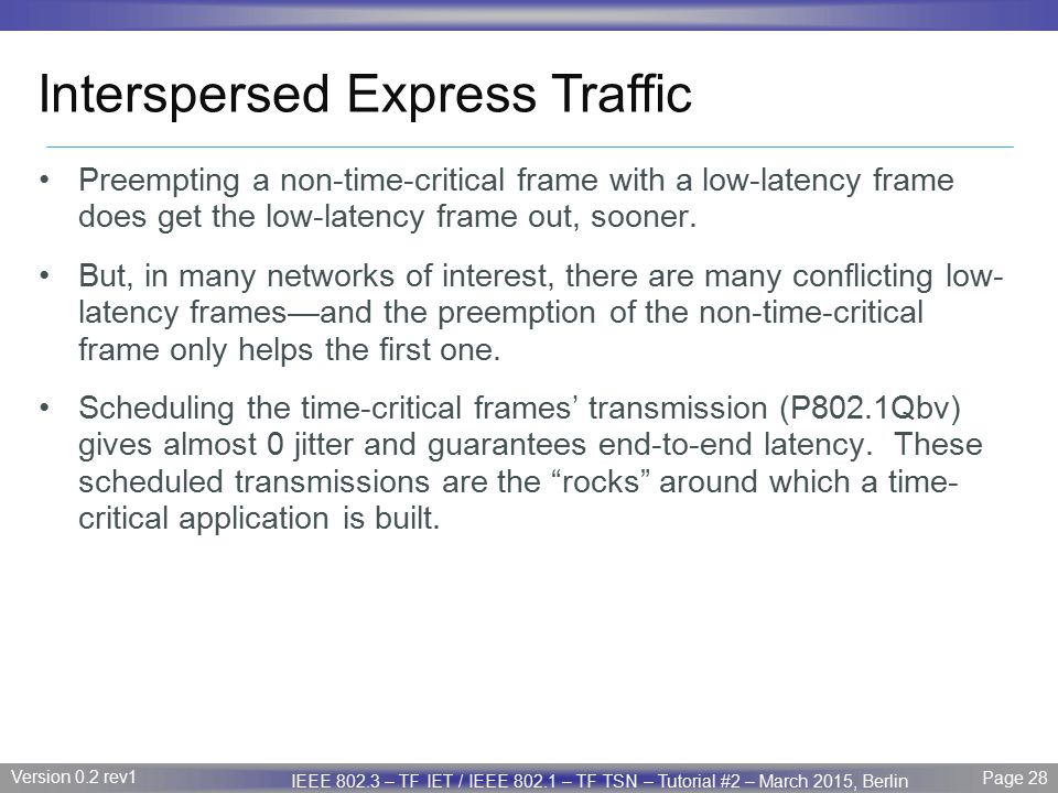 Interspersed Express Traffic