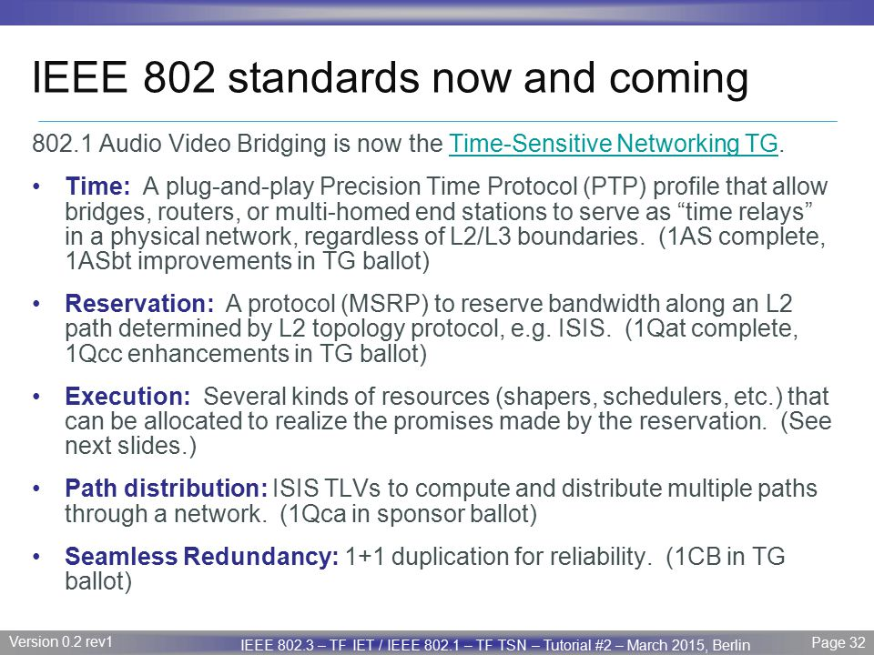 IEEE 802 standards now and coming
