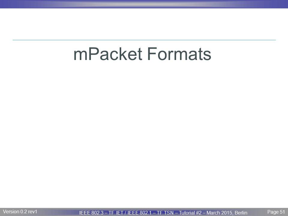 mPacket Formats