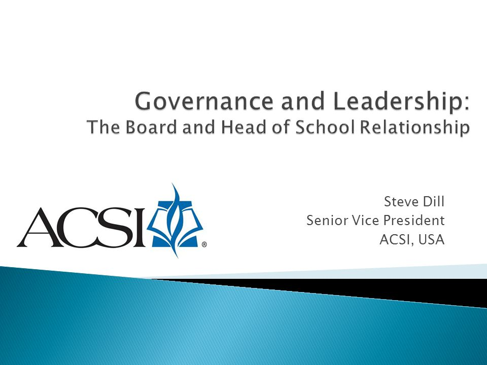 Governance and Leadership: The Board and Head of School Relationship