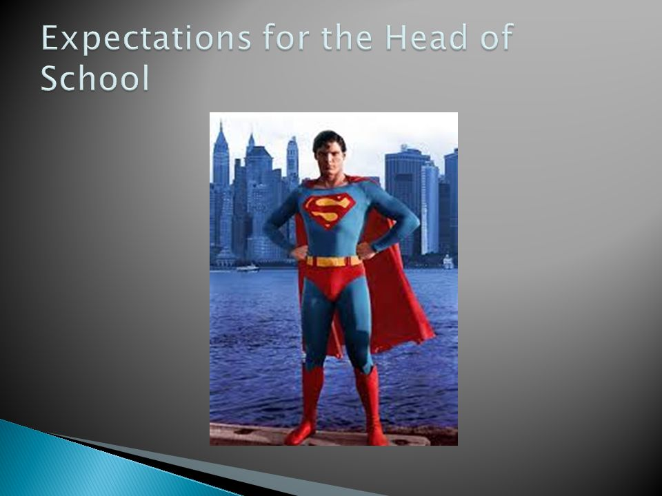 Expectations for the Head of School