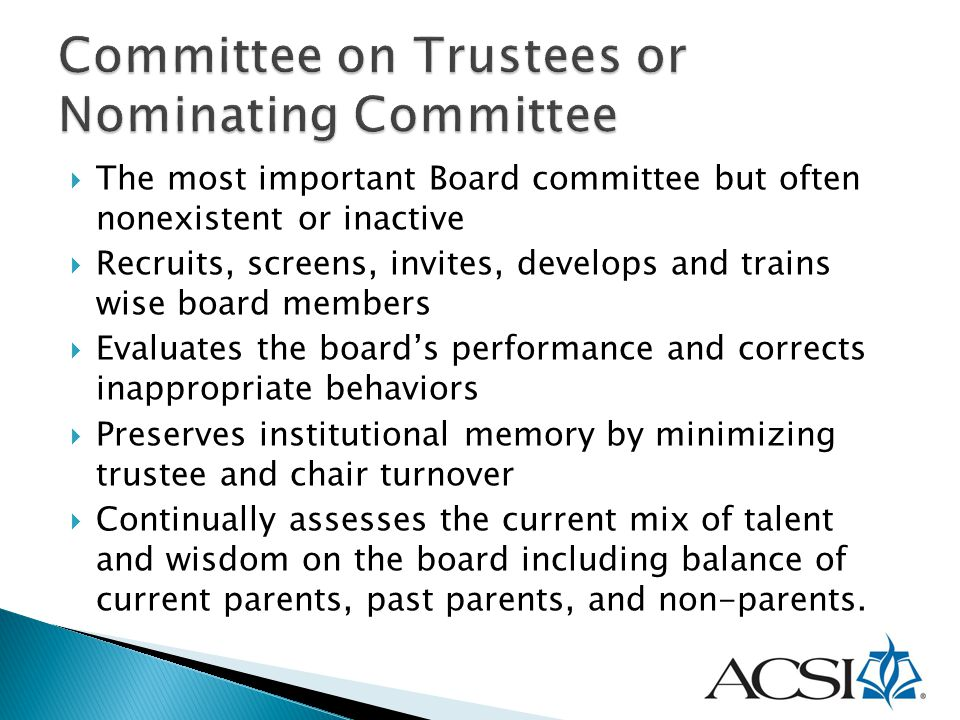 Committee on Trustees or Nominating Committee