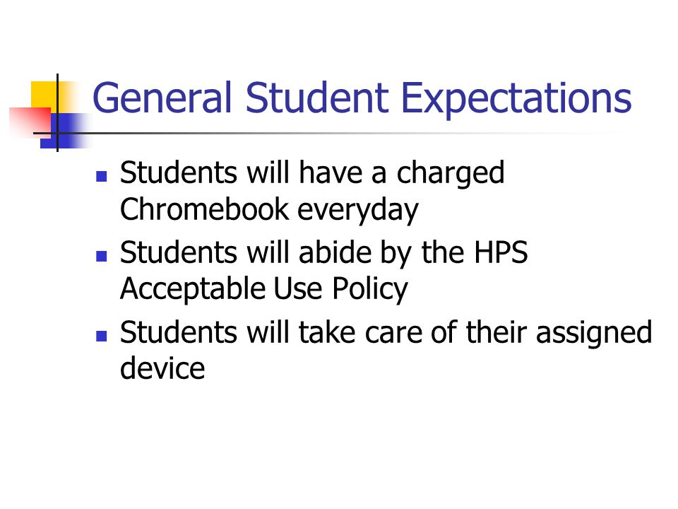 General Student Expectations