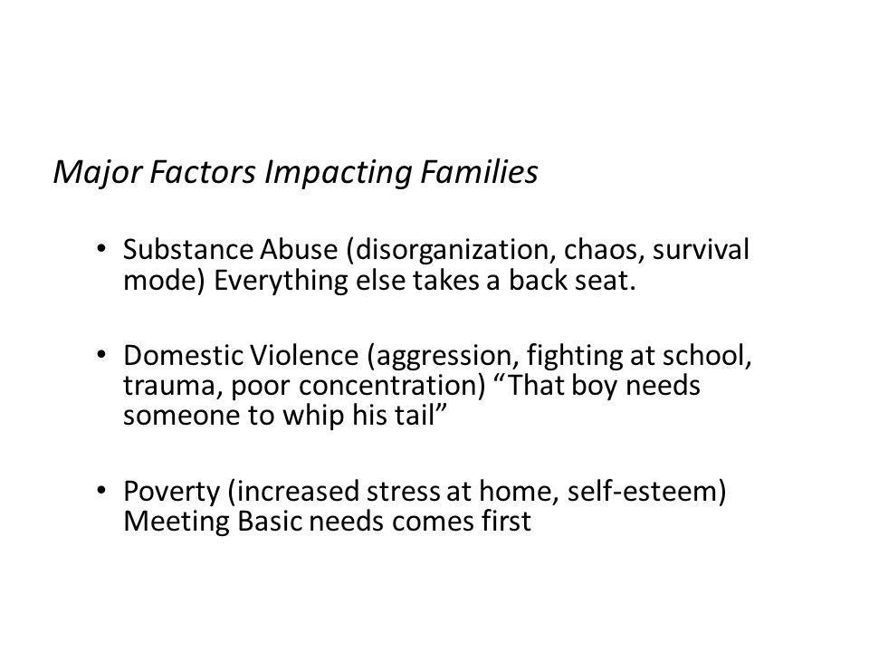 Major Factors Impacting Families